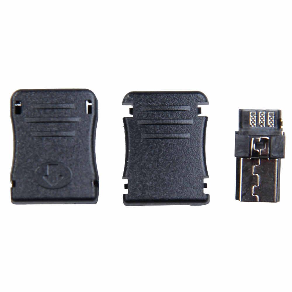 HOT 50 stks/set Micro USB 5 Pin T Port Male Plug Socket Connector Plastic Cover DIY NDS66