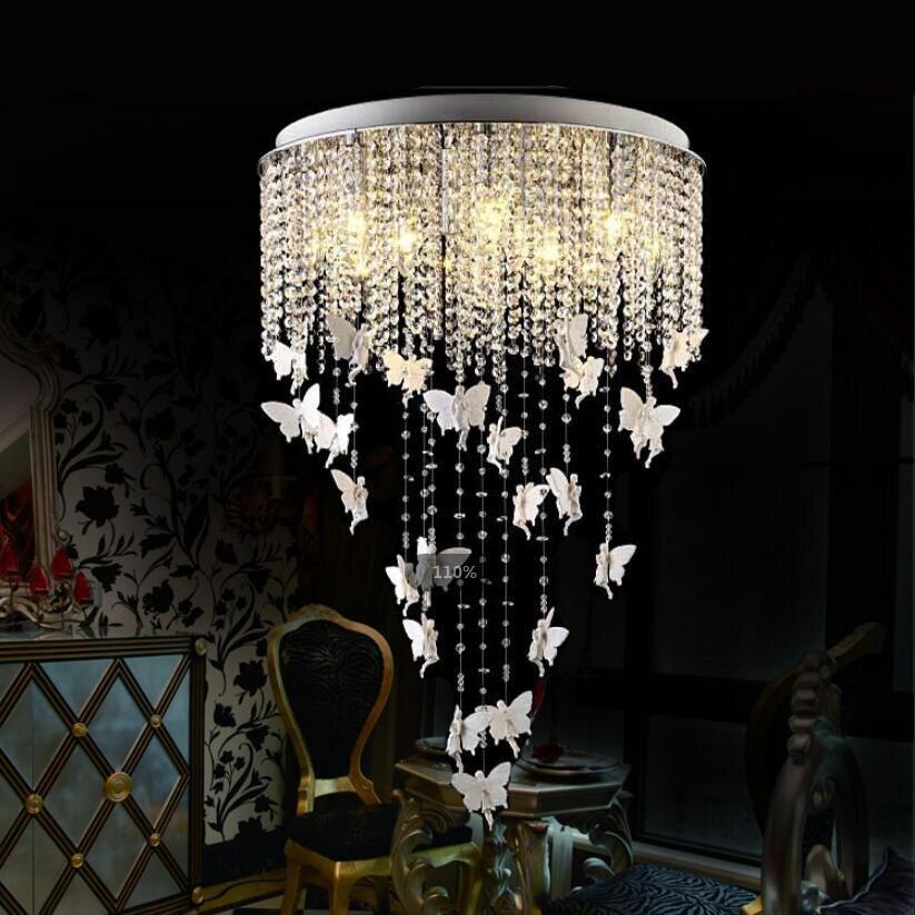 US $148.78 20% OFF|Moderne kunst kristall Decke lampen LED lampen E14 birne  wohnzimmer Harz engel decke lichter Mode warme led glanz lampen z20-in ...