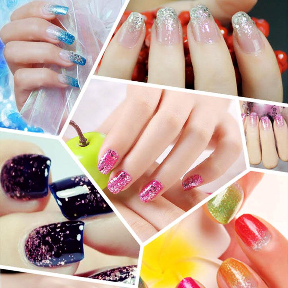 24 Colors Glitter Powder Colored Metallic Acrylic Nail Tinsel Holographic Dust Decoration Sf0047 In From Beauty
