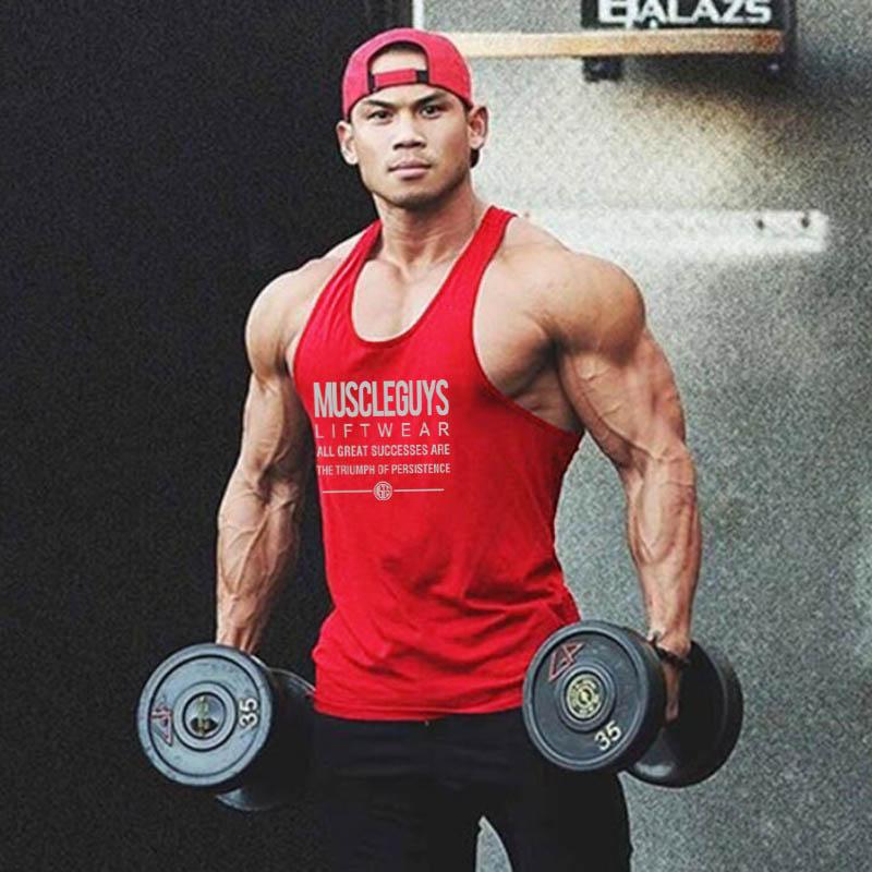 New Design Brand Gyms Stringer Tank Top Men Bodybuilding Sleeveless Shirt Mens Summer Fitness Y Back Muscle Vest