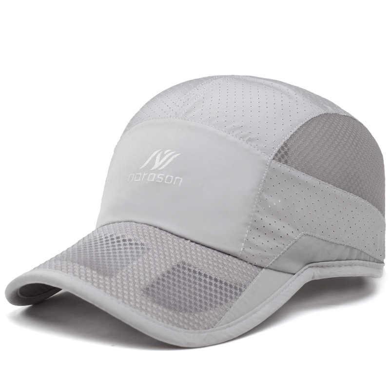 Cokk masculino boné de beisebol verão guarda-sol respirável à prova dquick água de secagem rápida snapback chapéus para homem