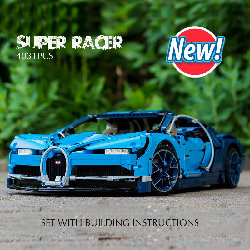 Pandadomik New Super Large 4031pcs Technic Racing Car Model Building Kits lepin Racer Blocks Bricks DIY Legoingly Toys for Boys