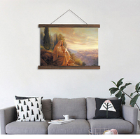 Artryst Most Popular Canvas Scroll Painting Light Of The World Print Poster Hanging Canvas Painting For
