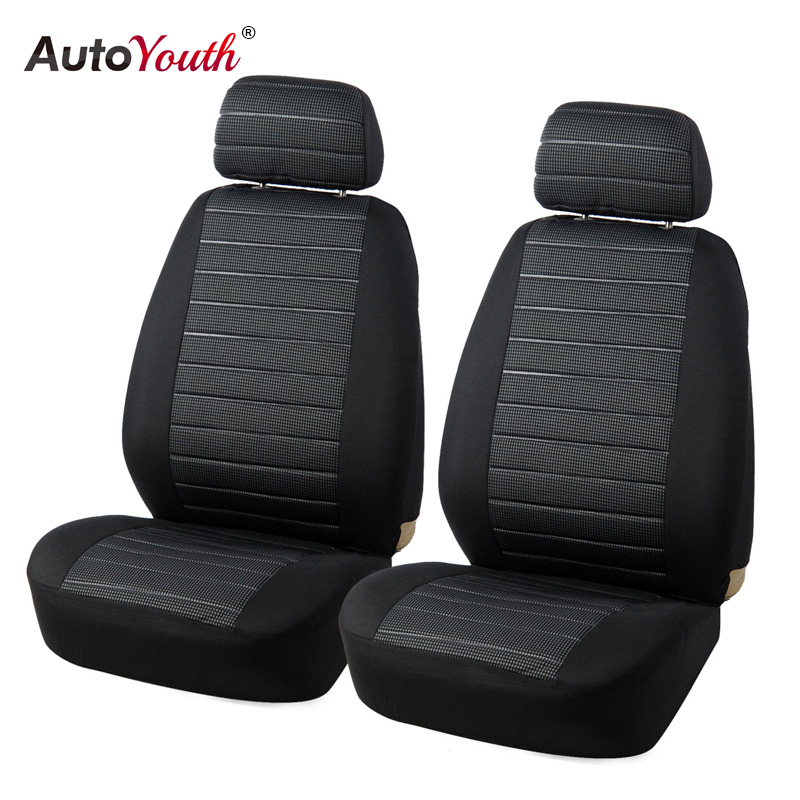 AUTOYOUTH Front Car Seat Covers Airbag Compatible Universal Fit Most Car SUV Car Accessories Car Seat Cover for Toyota 3 color kkysyelva universal leather car seat cover set for toyota skoda auto driver seat cushion interior accessories