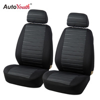 AUTOYOUTH 15PCS Van Seat Covers Airbag Compatible 5MM Foam Checkered Universal Fit Most Vans Minibus Interior
