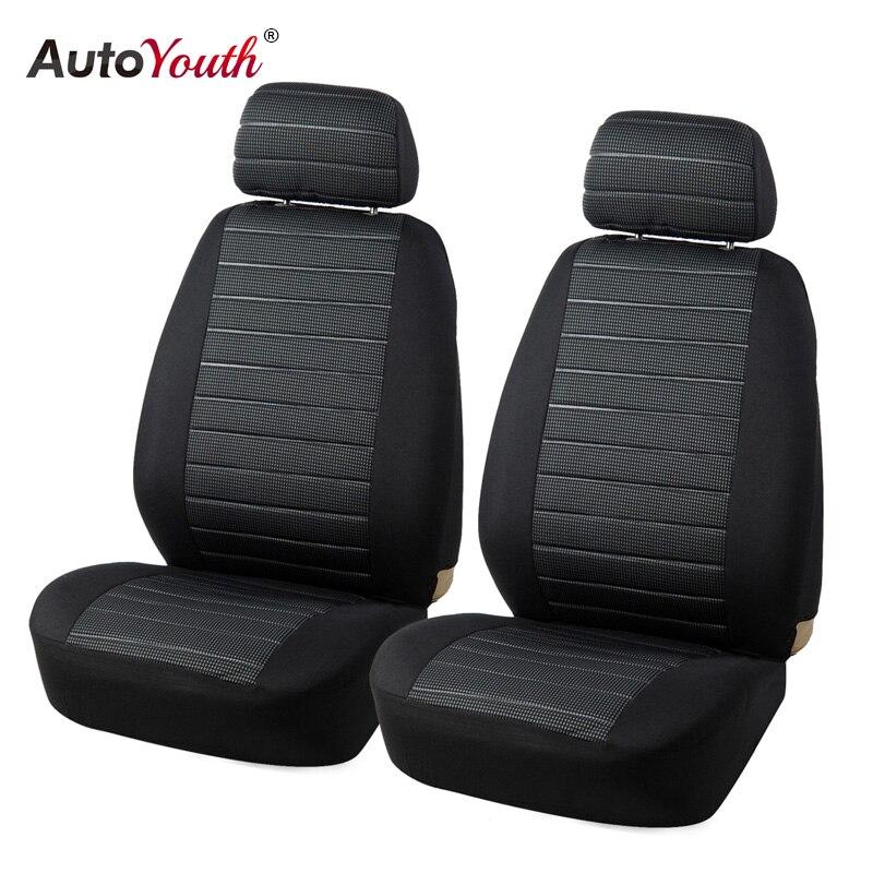 AUTOYOUTH parte delantera del asiento del coche cubre Airbag Compatible Universal Fit la mayoría de los accesorios del coche SUV cubierta del asiento del coche para Toyota 3 color