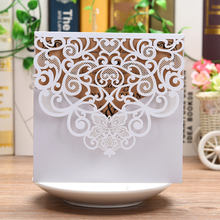 1 Piece Square Gold glitter Laser Cut Vintage Wedding Invitations Cards Hollow Floral Exquisite Carving Greeting invites cards