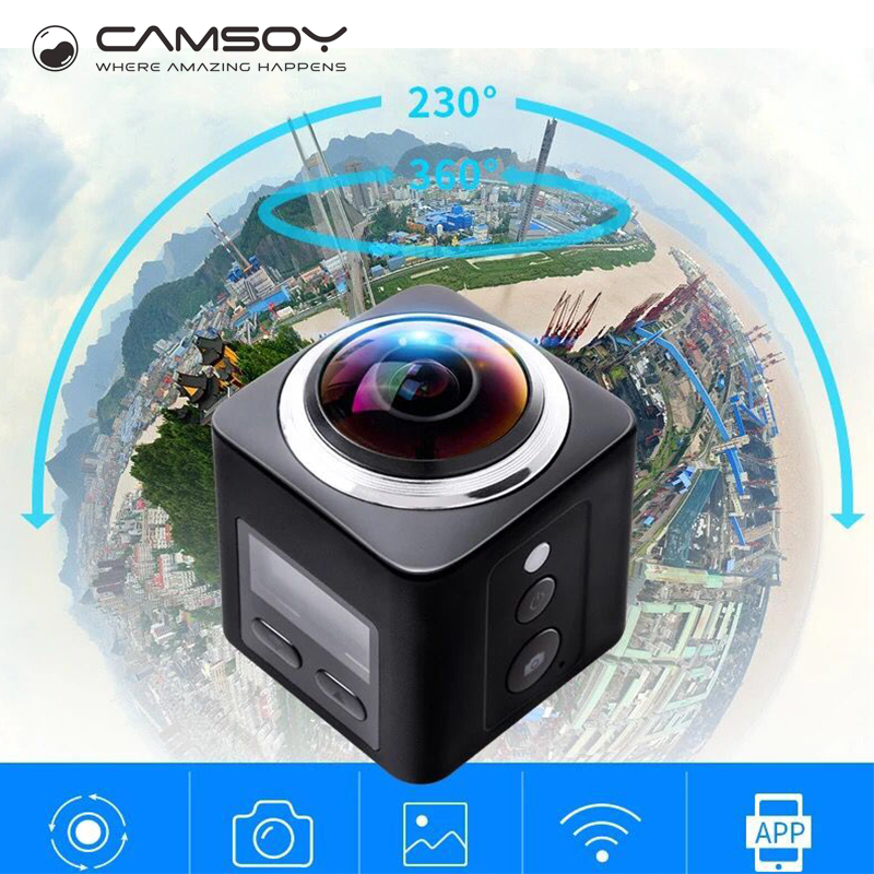 X360 Action camera Wifi Full HD 1080P 360 Camera H 264 2 0 Screen Waterproof Kamera