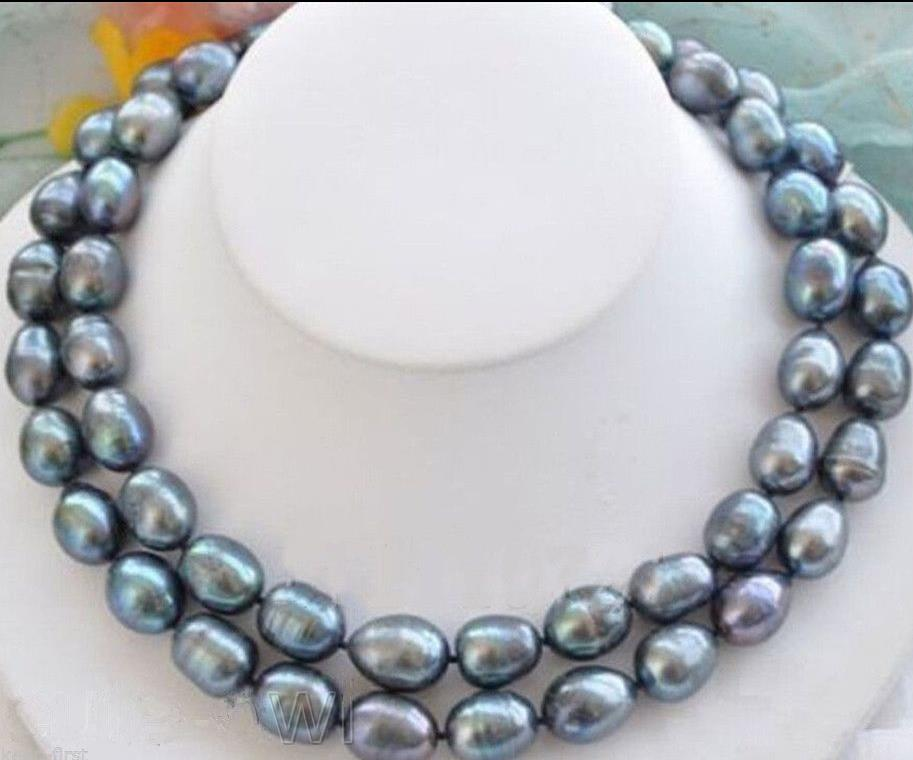 stunning 11-12mm tahitian round black green pearl necklace 18inch 925s lustre aa 17 12mm round peacock black pearl necklace 925s