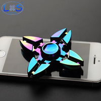 Colorful High Quality Metal Fidget Spinner EDC Crab Hand Spinner For Autism And ADHD Rotation Time
