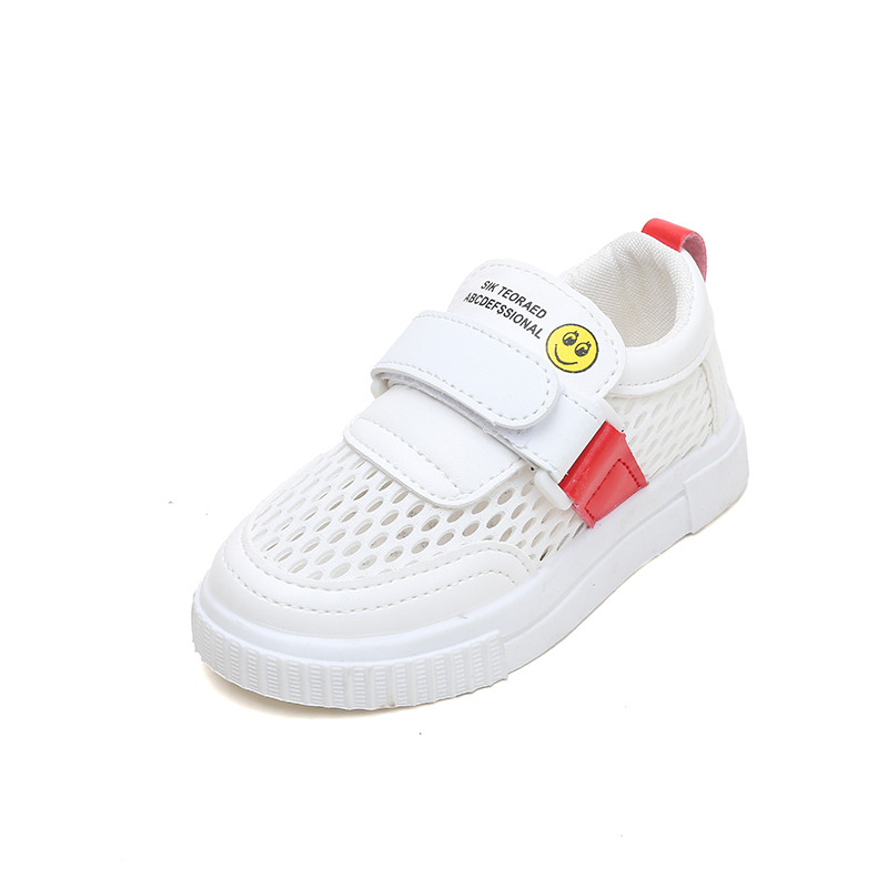 2019 children 39 s hollow breathable mesh shoes summer boys and girls wild casual shoes children 39 s white shoes non slip in Sneakers from Mother amp Kids