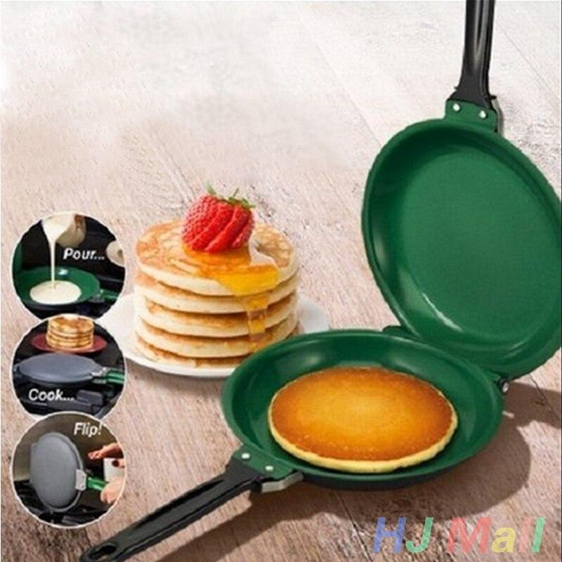 Non-Stick Reversible Flip Frying Pan Pancake Egg Cake Maker Machine Kitchenware Pancakes DIY Handmade Bake Pan Baking Tools