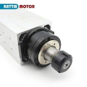 Image 4 - 【مجانية فات】 مربع 4kw ER25 مبرد هواء لمحرك المغزل 4 محامل و 4kw VFD العاكس 220 فولت ل نك راوتر آلة نقش بالحفر