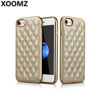 XOOMZ Für Apple iPhone 7 Fall Abdeckung Luxus Nette 3D Weiche Pu-leder Silikon Stoßfest Rüstung Telefonkasten für iPhone 7 Zurück abdeckung
