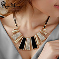 Collier Femme New Fashion Necklaces & Pendants PU Leather Rope Geometric Statement Choker for Women Mujer Accessories Jewelry
