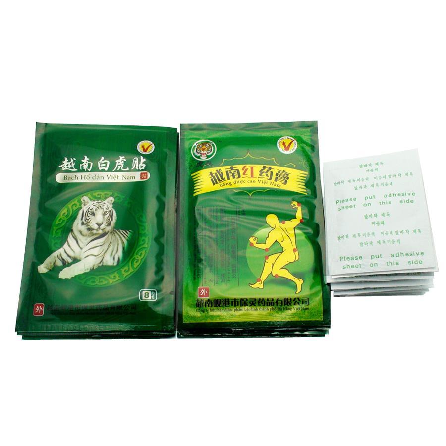 32pcs White Tiger Balm Red 12pcs Kinoki Detox Foot Gold Per Box Aeproductgetsubject