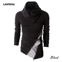 LASPERAL 2017 New Men Pullovers Knitwear Sweaters Autumn Hit Color Pile Collar Men Bottoming Shirt