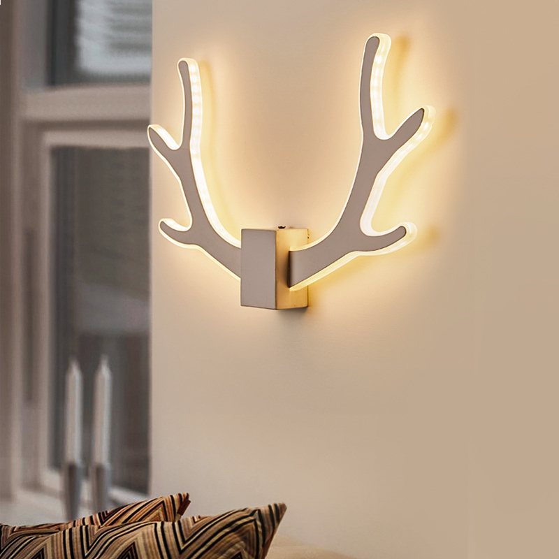 JAXLONG Nordic LED Antlers Wall Lamp Novelty Modern Home Decor Lighting Bedroom Bedside Wall Sconce Light Fixture Corridor Light|LED Indoor Wall Lamps| |  - title=