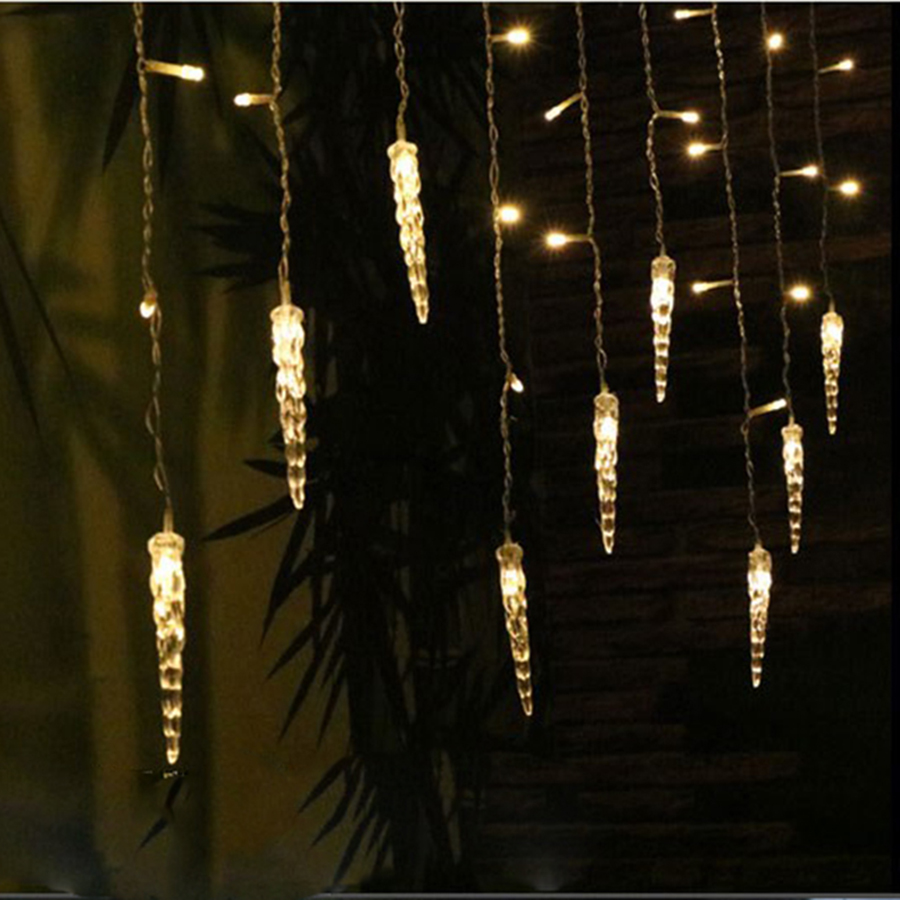 Holiday Lighting 3 5M Colorful Icicle Fairy LED Curtain String Lights Garland Outdoor Decoration Christmas LED Light 8 Modes in LED String from Lights Lighting