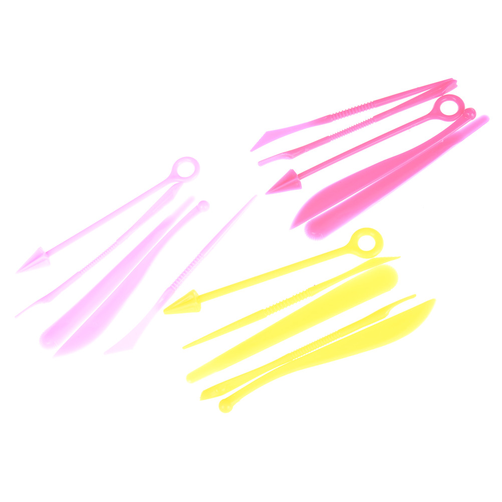 Learning & Education Beautiful 5pcs/set Polymer Clay Tools Children Babies 5 Pcs/set Polyform Sculpey Oven Bake Plastic Tools Set For Shaping Random Color