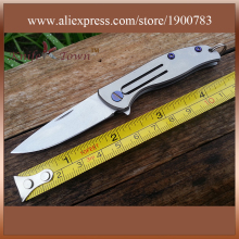 DK070 2016 new high hardness steel d2 knife titanium alloy handle camping knife gift utility hunting knife