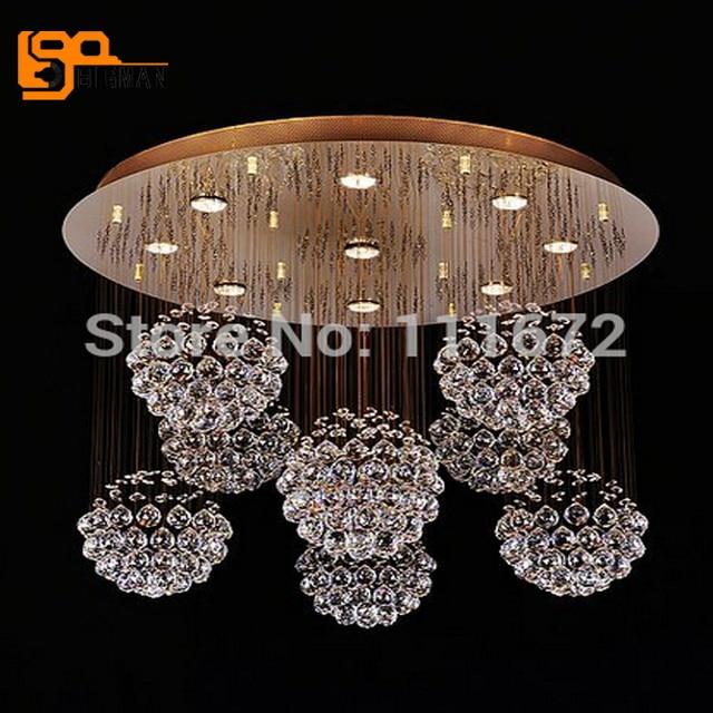 new modern led crystal chandelier lighting fixtures lustre hotel