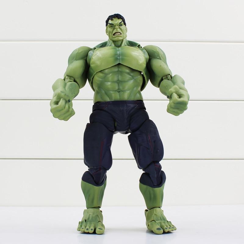 Superheroes The Avengers Movie Green Hulk Action Figures Toys 20cm PVC Model Dolls  Free Shipping avengers movie hulk pvc action figures collectible toy 1230cm retail box