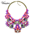 Vodeshanliwen Maxi Necklace Woman fashion jewelry Brand Collar Necklaces & Pendants Colorful crystal choker statement necklace