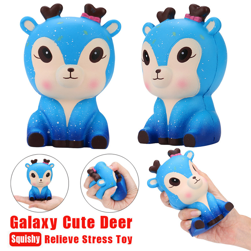 Squeeze Toys Squeeze Toy 11cm Galaxy Deer Cream Scented Squishy Slow Rising Squeeze Strap Kids Toy Gift 2018mar23