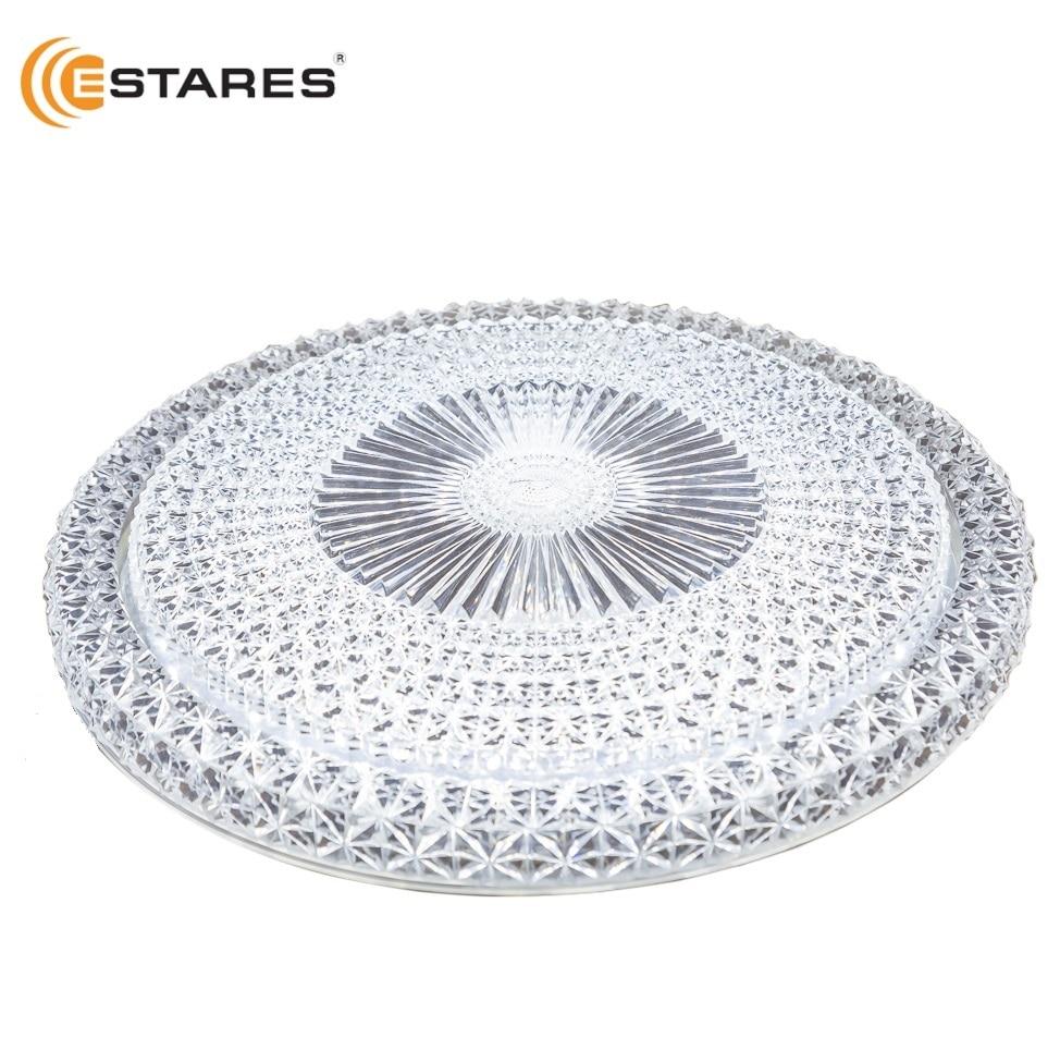 ESTARES LED Ceiling lamp AKRILIKA PRIME 40W R-405-CLEAR-220-IP44