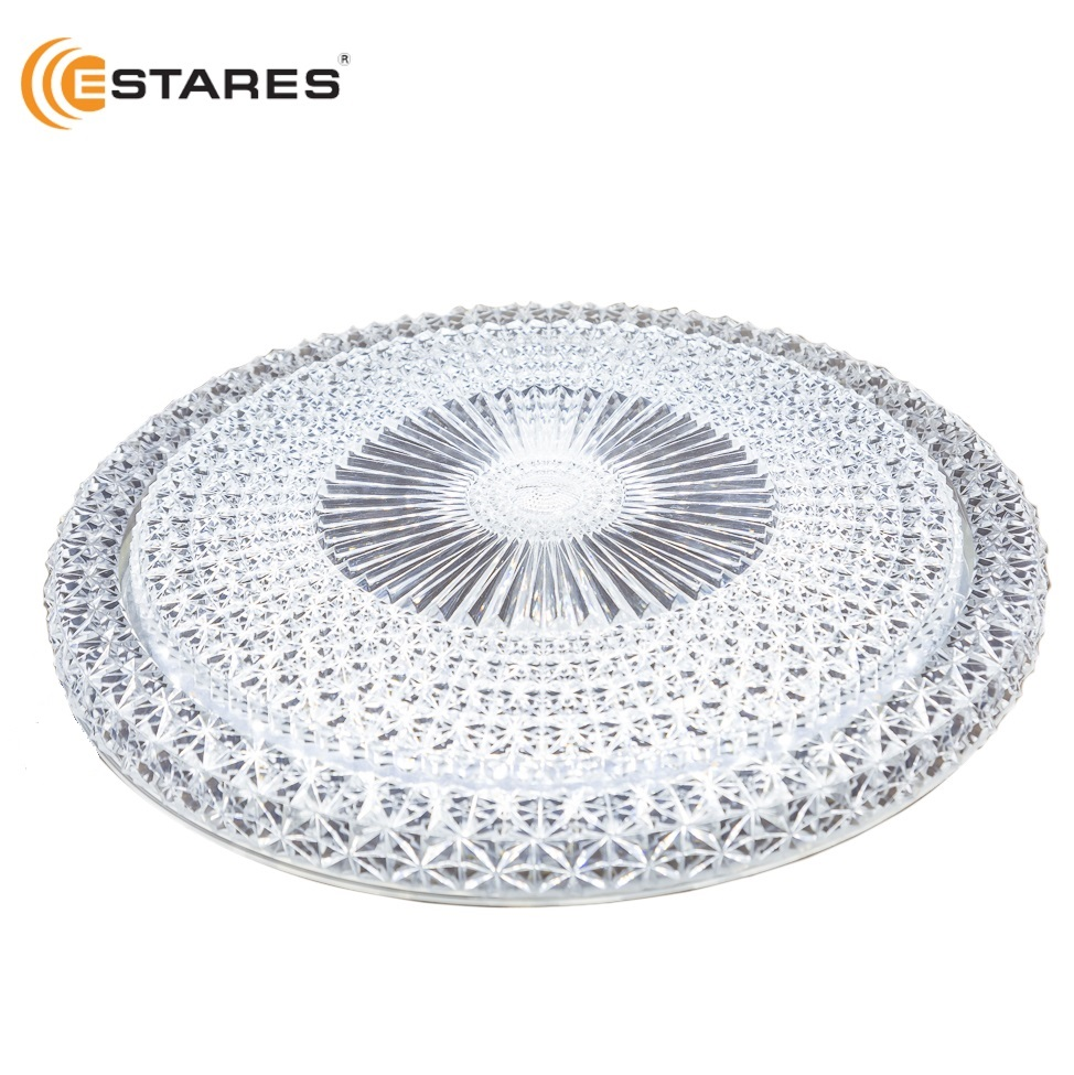 ESTARES LED Ceiling lamp AKRILIKA PRIME 40W R-405-CLEAR-220-IP44