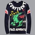 Я акула 3d футболка мода смешно акула печати топы топ качества с длинным рукавом мужская одежда хип-хоп рок тройник для hombre подростки