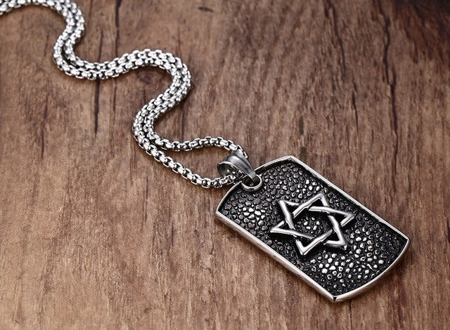 Pendant with Star of David Pattern
