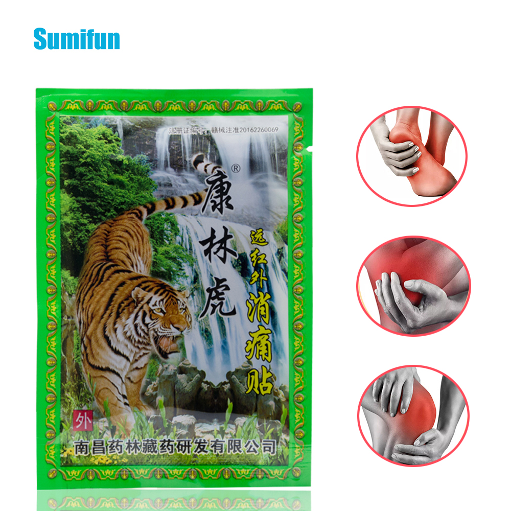 24pcs Tiger Balm Pain Patch Neck Back Body Pain Relaxation Joint Killer Body Medical Plaster Chinese Herbal Stickers D1422(China)
