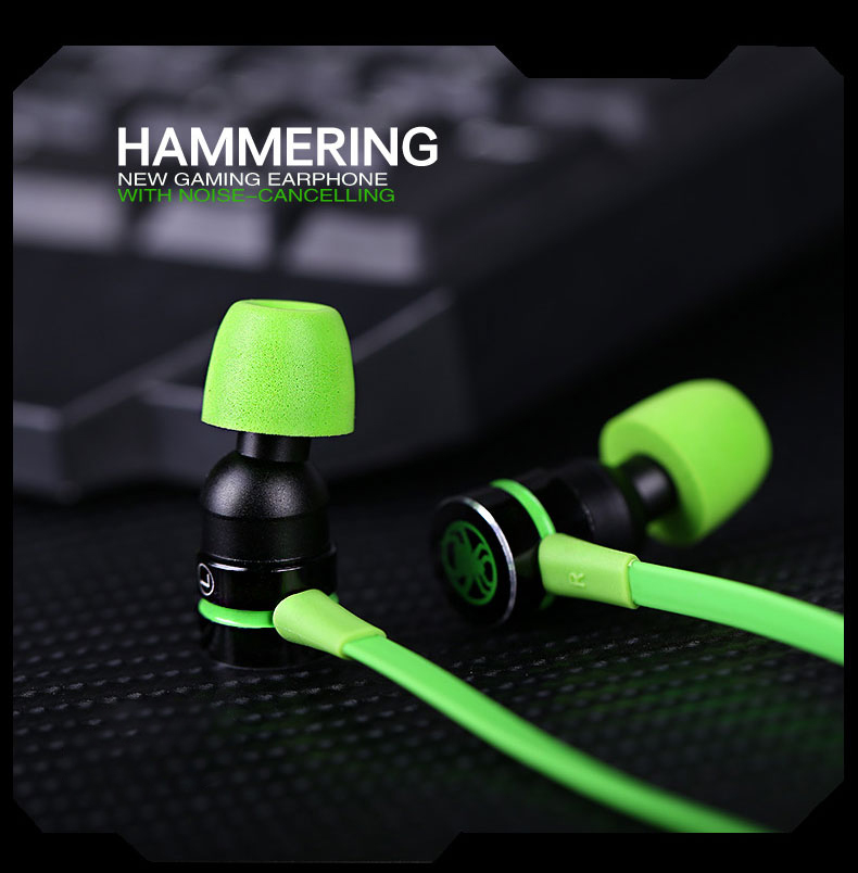 Tebaurry Magnetic Earphone With Microphone In ear Gaming Headsets Noise Canceling Stereo Deep Bass pk  hammerhead pro v2