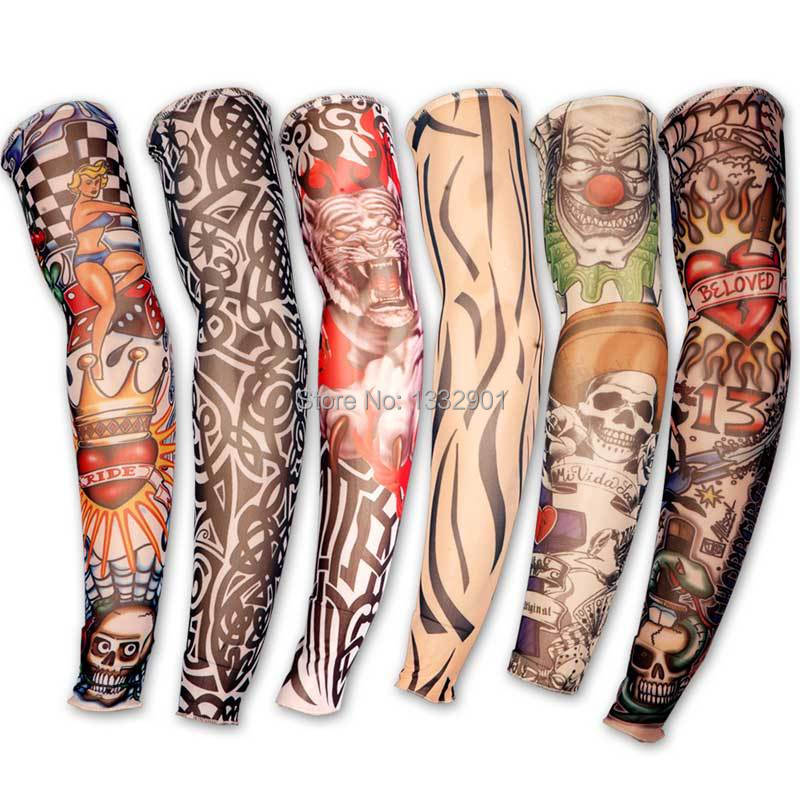 77fb48d78 6 X FAKE TEMPORARY TATTOO SLEEVE PUNK ROCK PARTY DESIGN FUN ARM FANCY DRESS  NEW-in Arm Warmers from Apparel Accessories on Aliexpress.com | Alibaba  Group