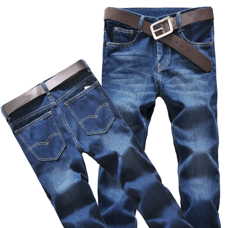 Left ROM New 2017 Fashion High-quality Cotton Men's Straight Casual Blue Jeans Quality Male Jeans Big Size 40 42 44 Pants jeans mens cotton blue male jeans 2017 new men pants fashion business casual size 42 hot sale high quality best choice left rom