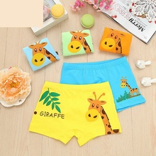 New 2017 High Quanlity 4 Pcs/Lot Boys Children Underwear Kids Cartoon Cotton Briefs Boy Panties Boxer Children Clothing