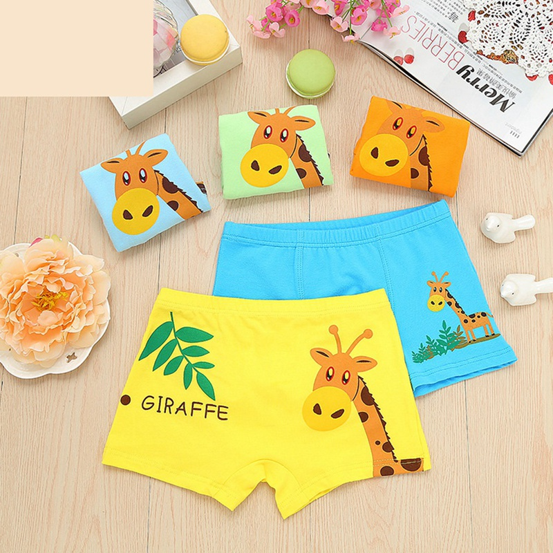 все цены на New 2018 High Quanlity 4 Pcs/Lot Boys Children Underwear Kids Cartoon Cotton Briefs Boy Panties Boxer Children Clothing