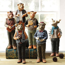 American Style Home Living Room TV Cabinet Decoration Ornaments Children's Room Resin Animal Crafts Creative Gifts american rabbit desk decoration creative girls qixi gifts home ornaments living room bookcase decoration knick knacks