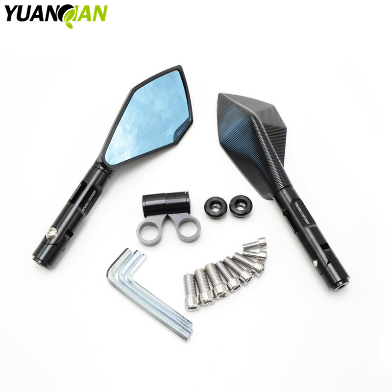 цена на Rearview Mirrors For Yamaha MT-07 MT-09 MT 07 09 FZ-07 FZ1 FZ6 FZ8 tmax 500 CNC Aluminum Mirror Motorcycle Scooter Accessories