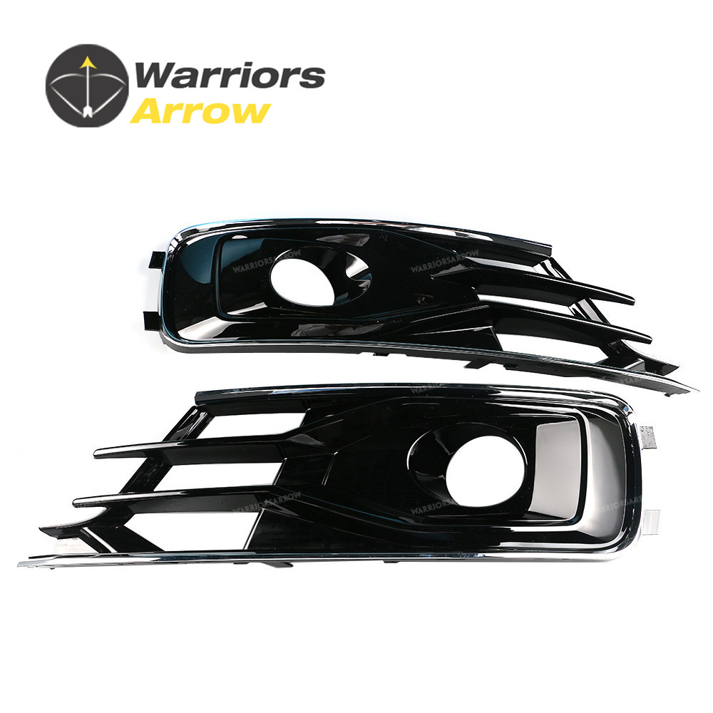 4G0807647A 4G0807648A For Audi A6 S6 Avant quattro 2015 2016 Pair Left Side+Right Side Front Bumper Lower Grill image