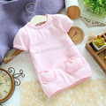 Free shipping Retail 2013 new spring autumn baby clothes kids knitted sweater baby girl short sleeved sweater t-shirts pullover