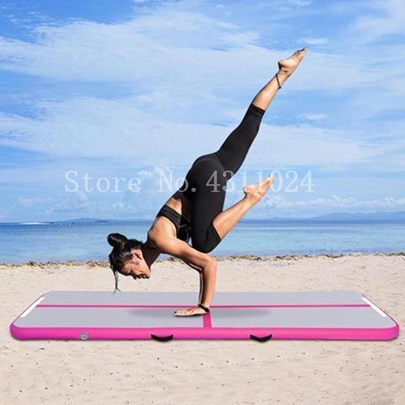 Livraison gratuite et pompe 3x1x0.1 m tapis de gymnastique gonflable plancher d'air Tumbling piste gymnastique Cheerleading tapis tour Pad pour Taekwondo Gym