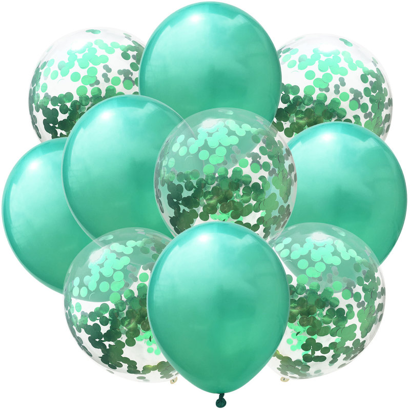 10pc 12inch Latex Colored Confetti Balloons And Birthday Party Decorations 9