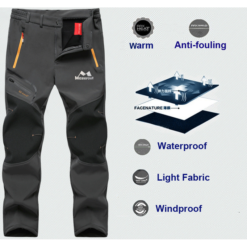 Sukutu Hombres Pantalones De Senderismo Softshell Al Aire Libre Respirable Resistente Al Agua Escalada Esqui Pantalones De Trabajo Pantalones Deportivos De Carga Hombre Ropa
