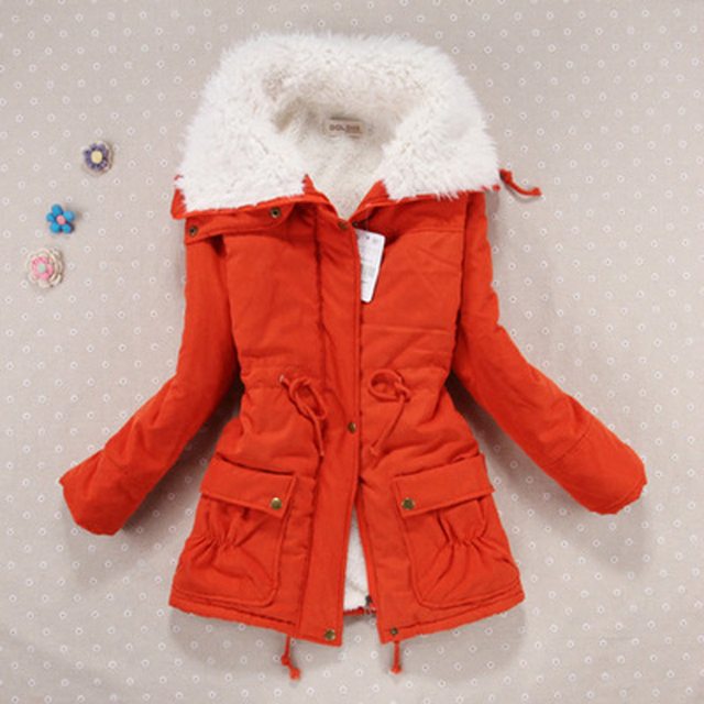 New 2018 Winter Coat Women military Outwear Medium-Long Wadded Hooded snow Parka thickness Cotton Warm casual Jacket Plus Size 4
