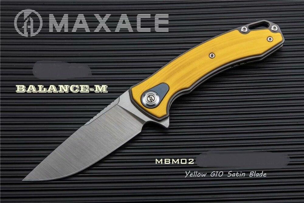Nouveau Orange Maxace Équilibre M G10 Poignée Doublure M390 Lame KVT Flipper Camping couteau pliant Livraison Gratuite