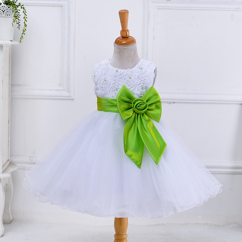 Retail Girls dress princess wedding girl party children's clothes 8 colors P56