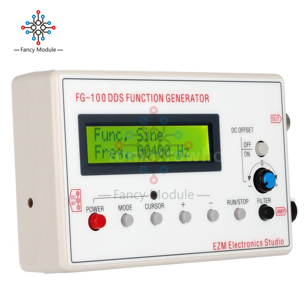 1HZ-500KHZ DDS Functional Signal Generator Signal Source Module Frequency Counter Sine + Square + Triangle + Sawtooth Waveform kwx03 square wave signal source frequency dutycycle adjustable 0 1hz 34khz digital display